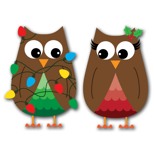 Free owl cliparts download. Owls clipart christmas