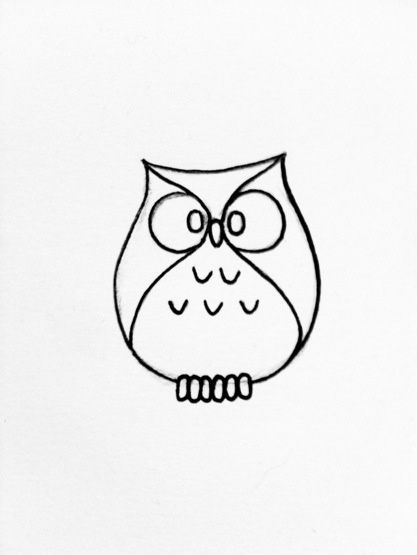 Owls clipart easy. Simple owl drawing google