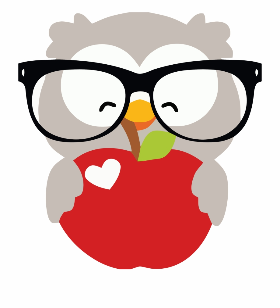 Owls clipart glass. Glasses happy owl and