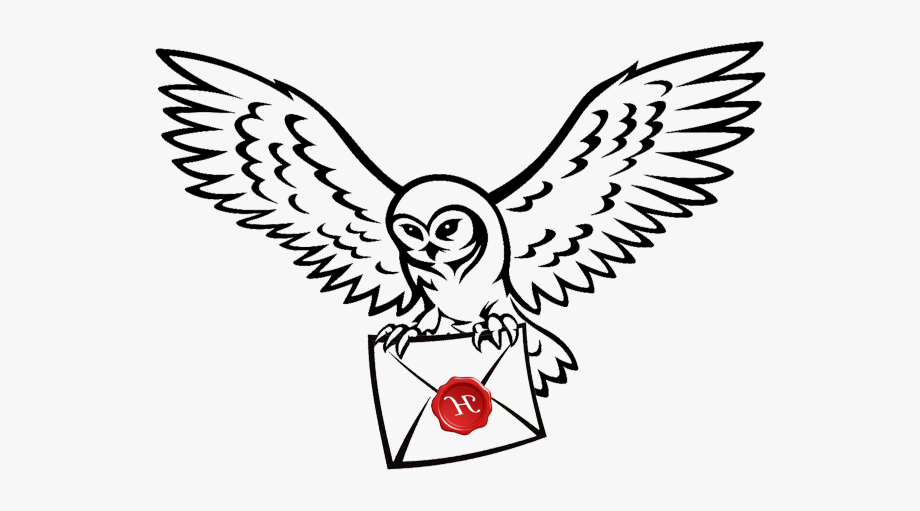Owls clipart harry potter. Owl post drawing