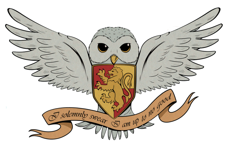 And the deathly hallows. Owls clipart harry potter