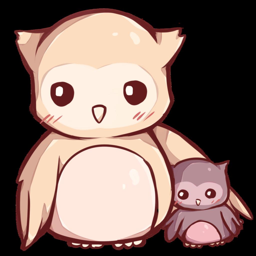 Owls clipart kawaii. Owl drawing kavaii cuteness