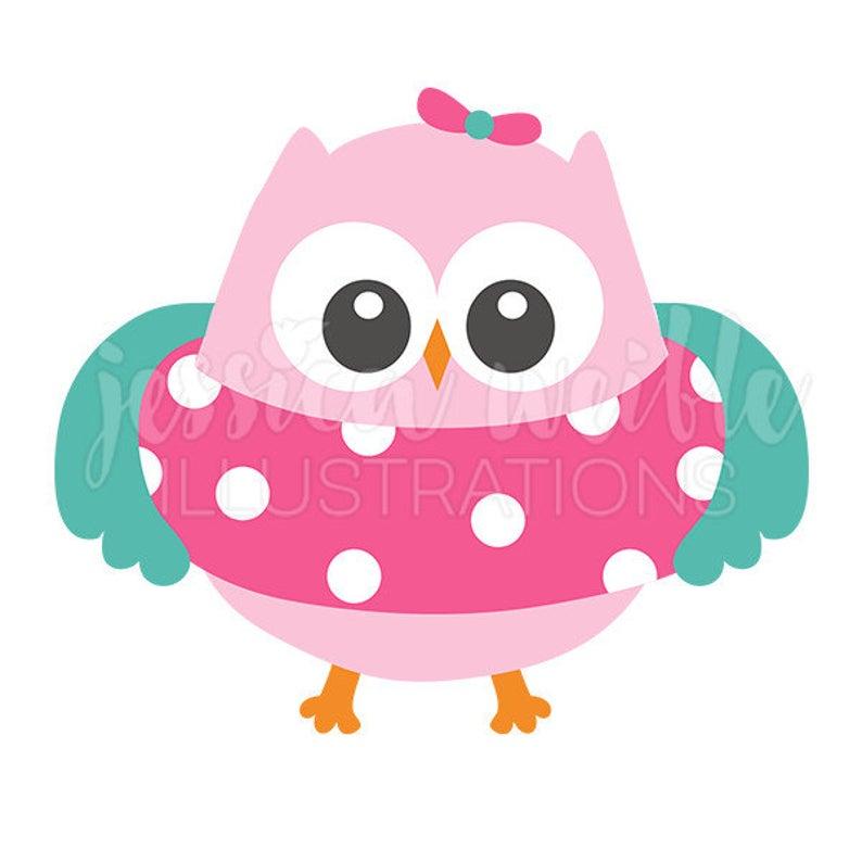 Floatie girl owl clip. Owls clipart summer
