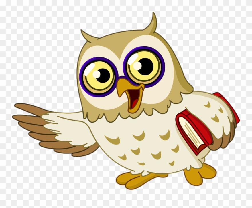 Cartoon clip art . Owls clipart wise owl
