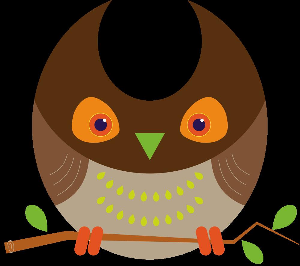 Owls d design illustration. Woodland clipart owl
