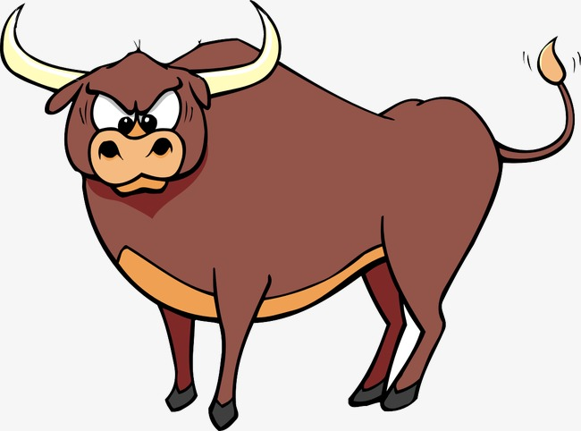 Ox clipart. Cartoon bull horn png