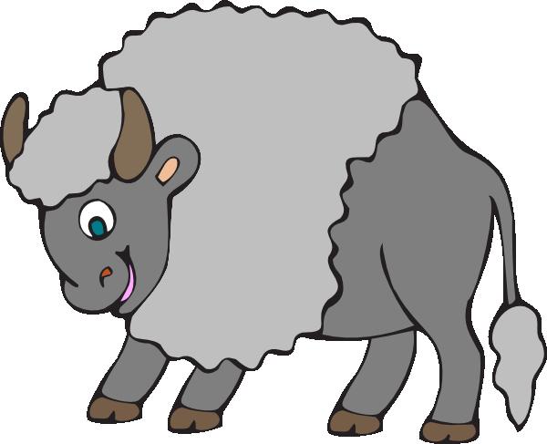 Big gray clip art. Ox clipart