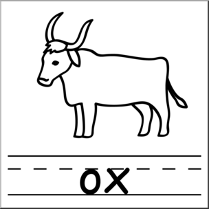 Ox clipart. Clip art basic words