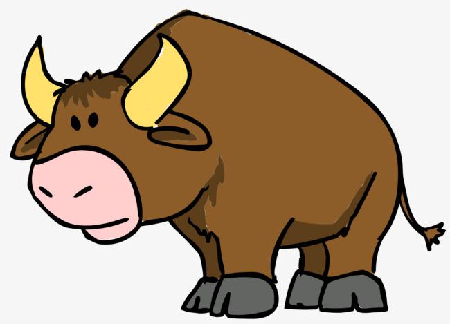 Ox clipart. Cartoon cattle horn png