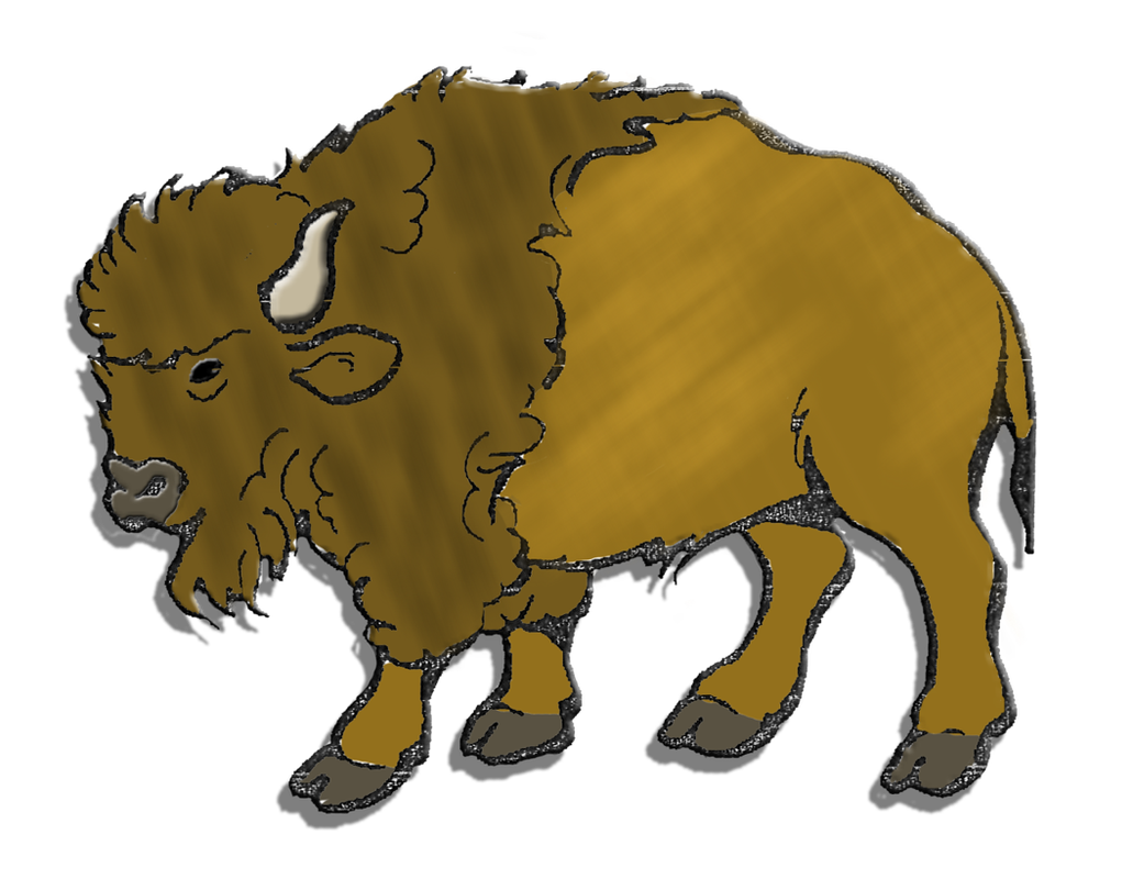 buffalo herd cliparthunt. Yak clipart bison