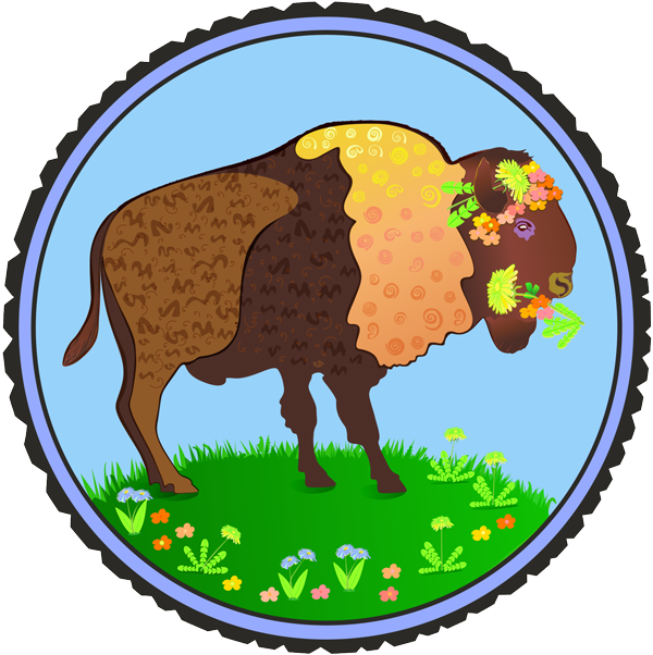 Ox clipart american bison. Patricia wiskur painting in