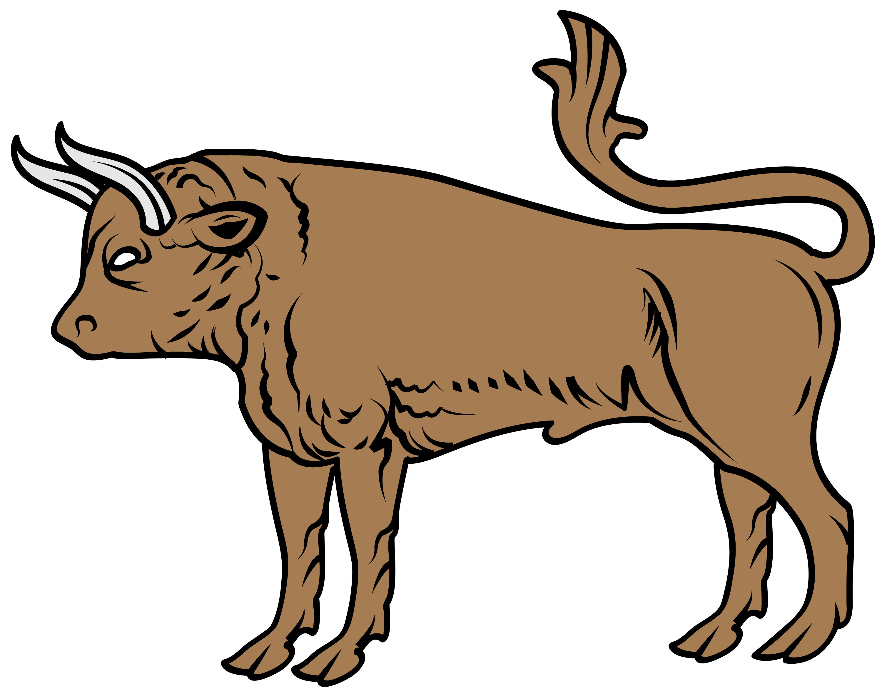 Myblazon com learn about. Ox clipart angry cow