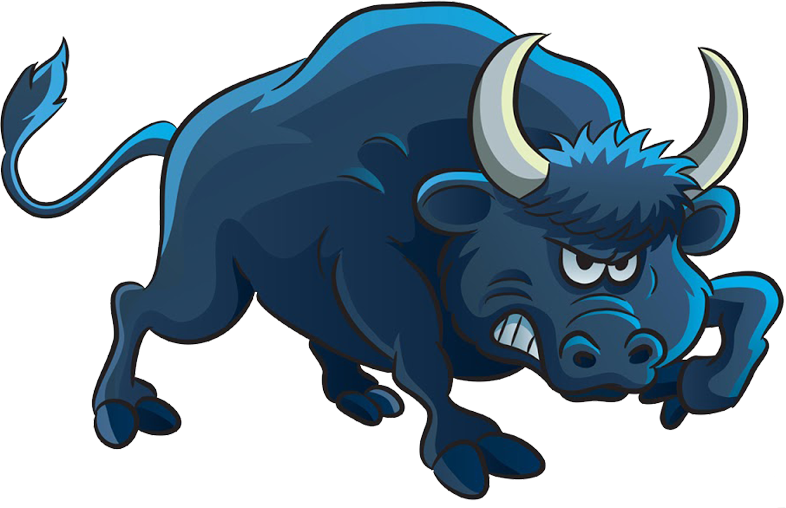 Ox clipart angry cow. Bull cartoon illustration transprent