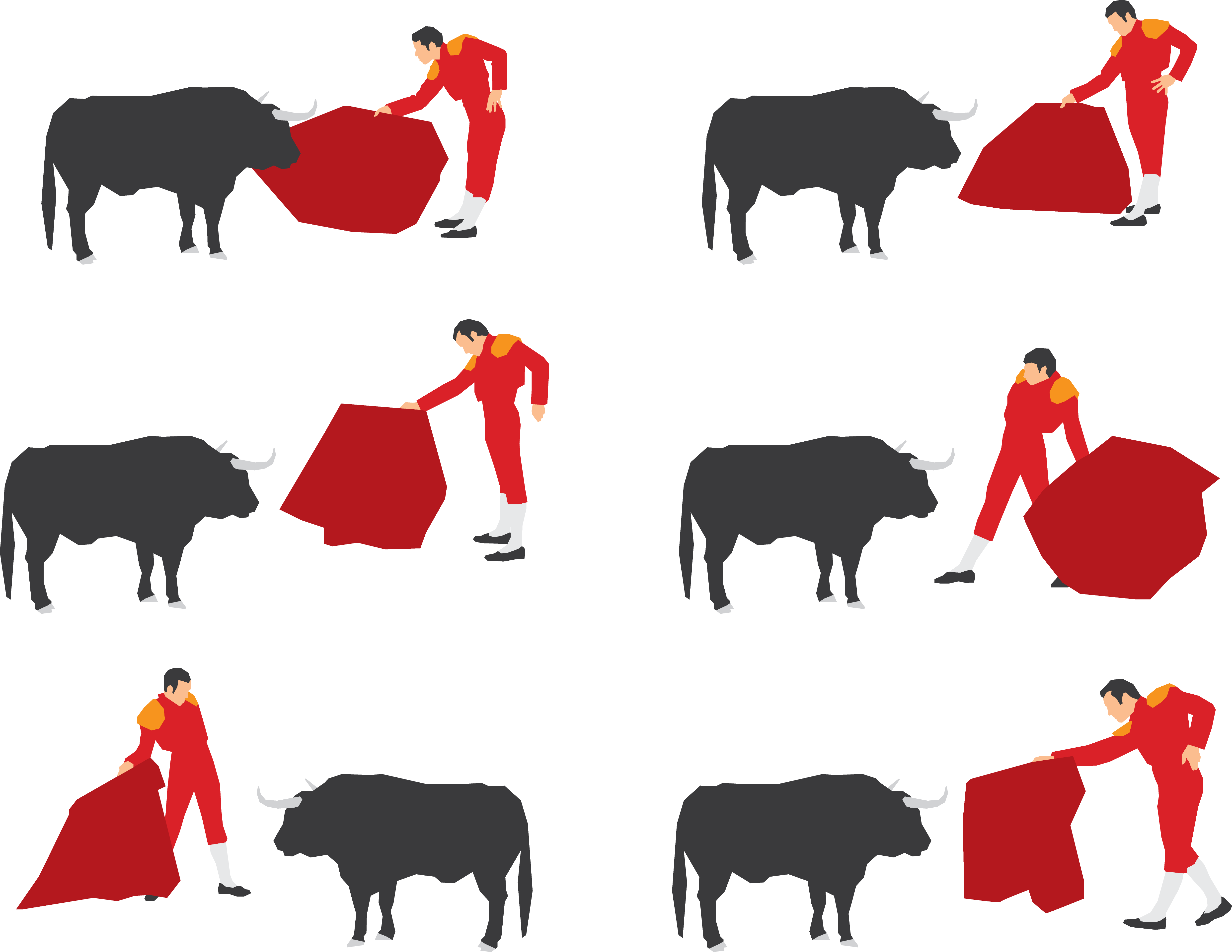 Ox clipart angry cow. Cattle bullring bullfighting bullfighter