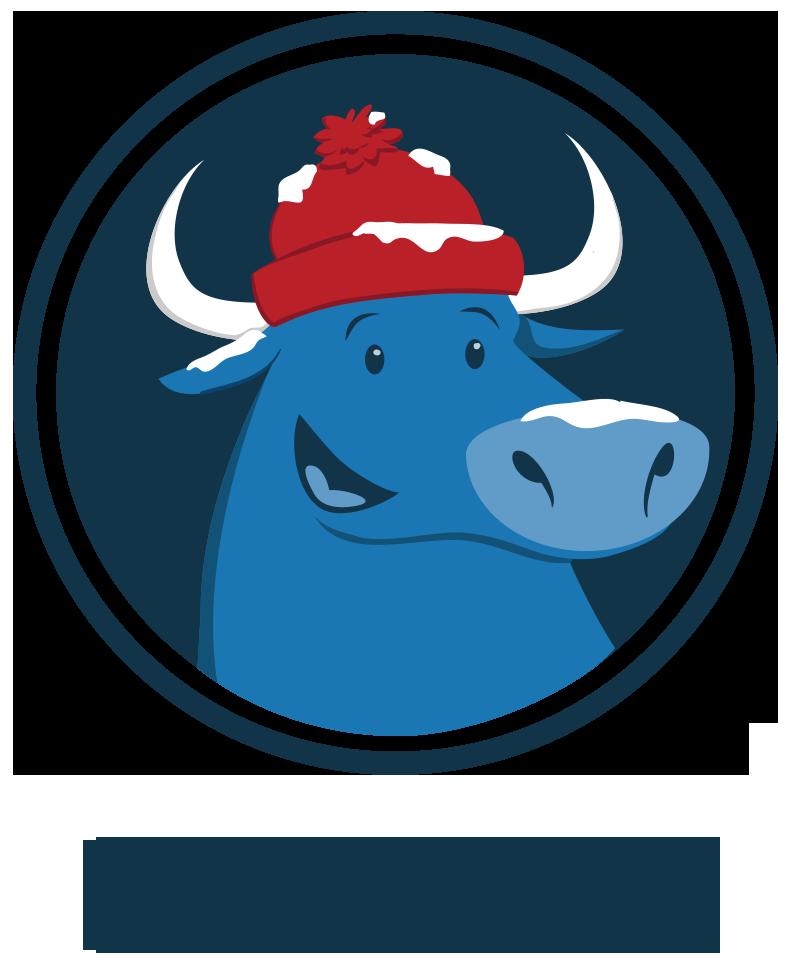 Home . Ox clipart blue