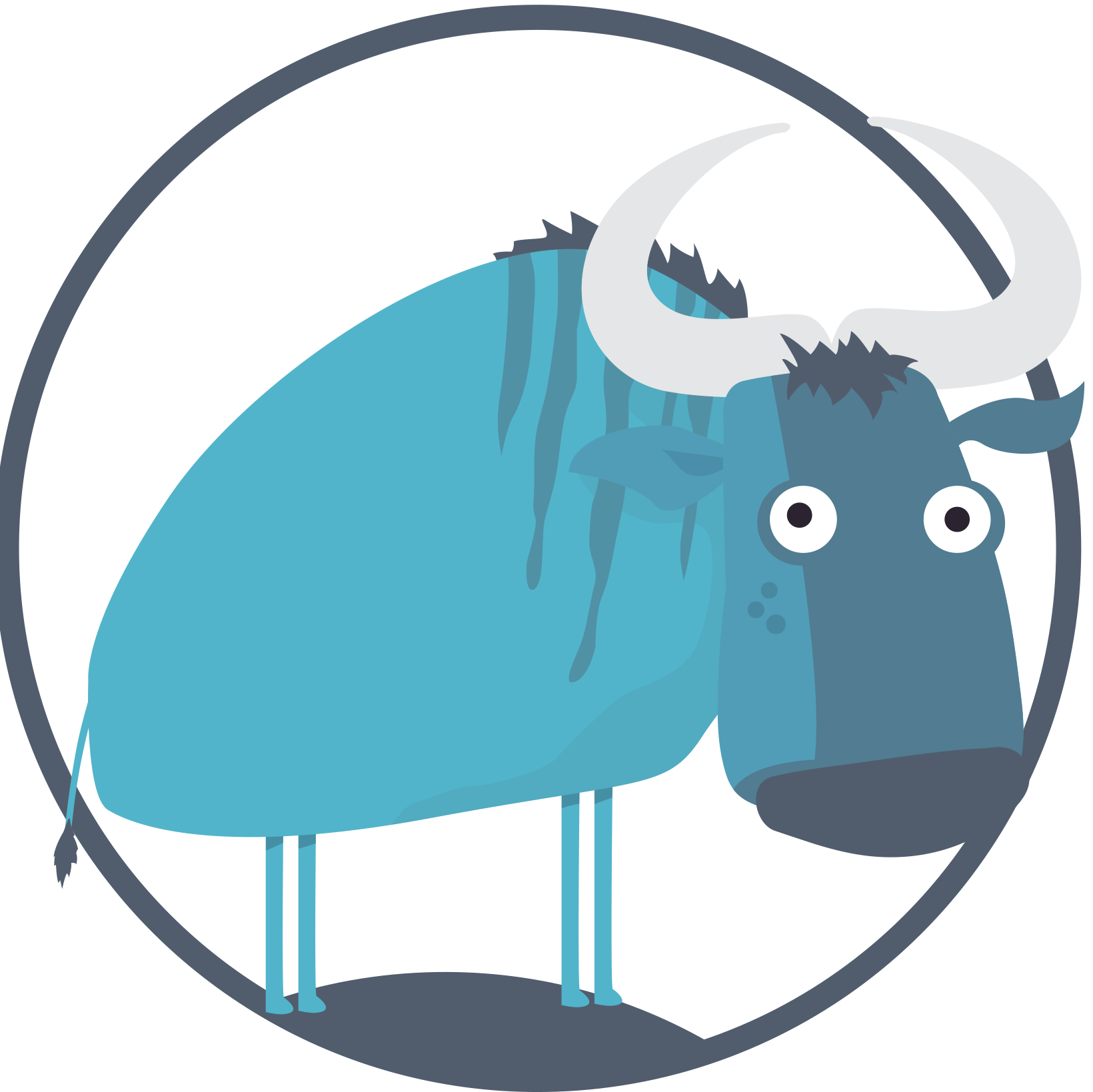 Ox clipart blue. The gnu blaagnu twitter