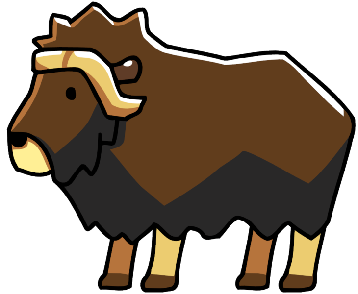 Image png scribblenauts wiki. Ox clipart brown bull