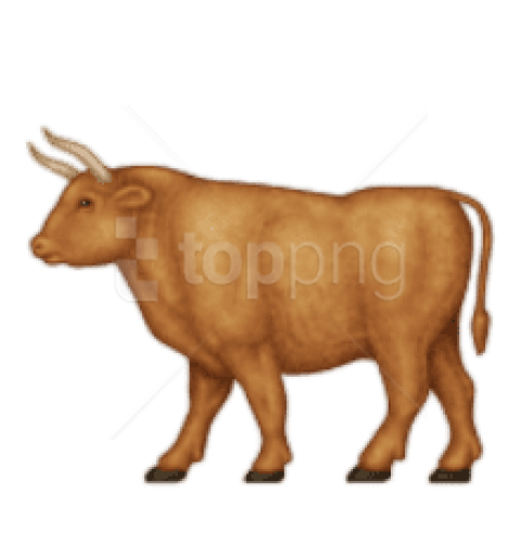 Ox clipart brown bull. Bovine illustration horn cartoon