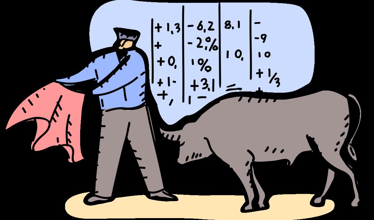 Entrepreneur matador bullfighter vector. Ox clipart bullfighting spanish