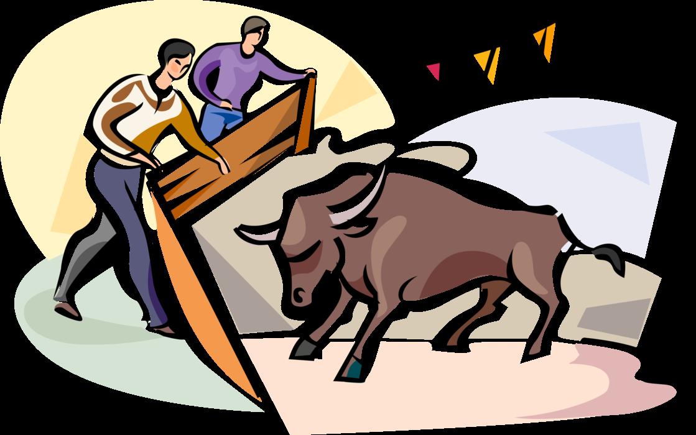 Ox clipart bullfighting spanish. San fermin festival pamplona