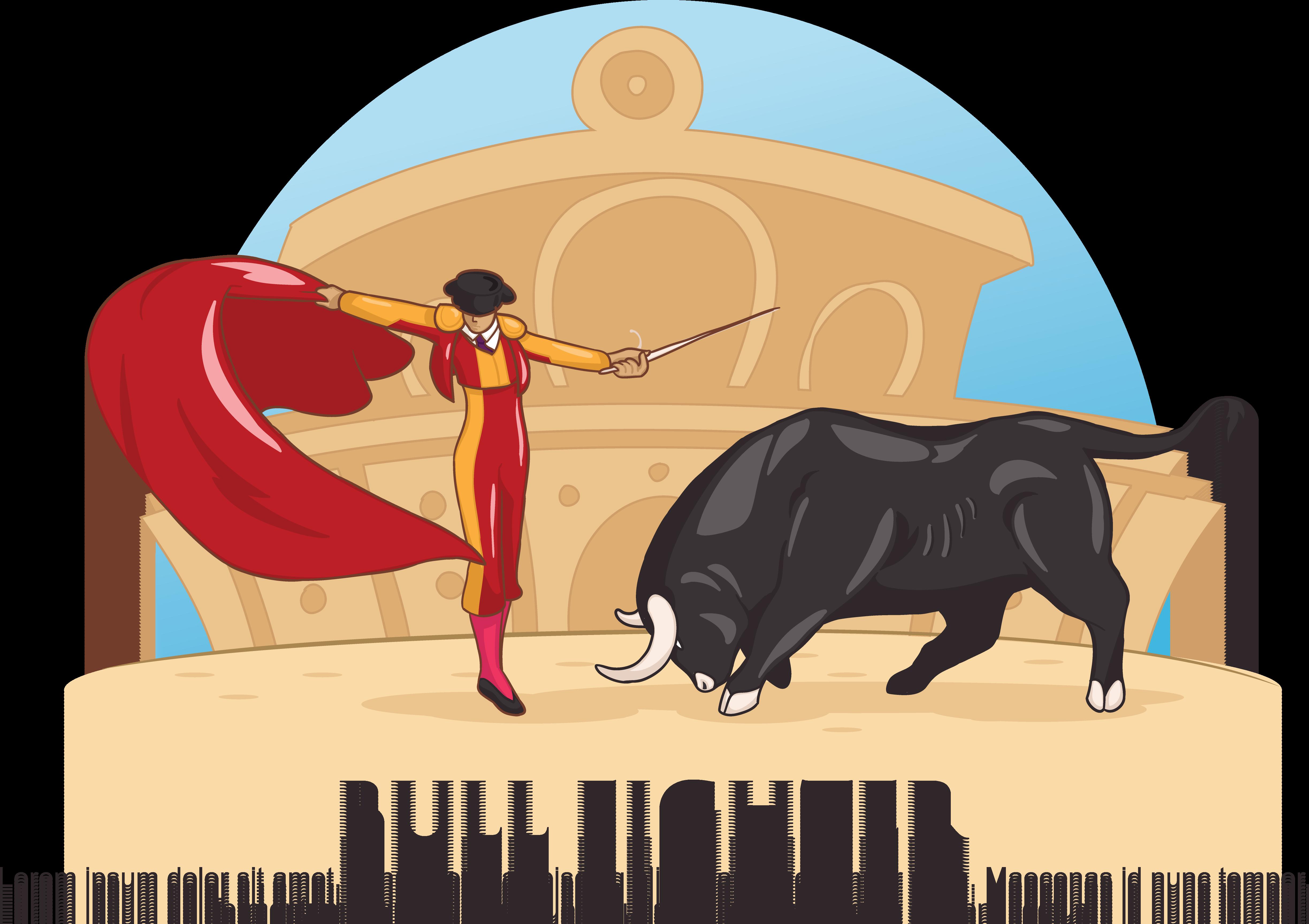 Ox clipart bullfighting spanish. Fighting bull clip art