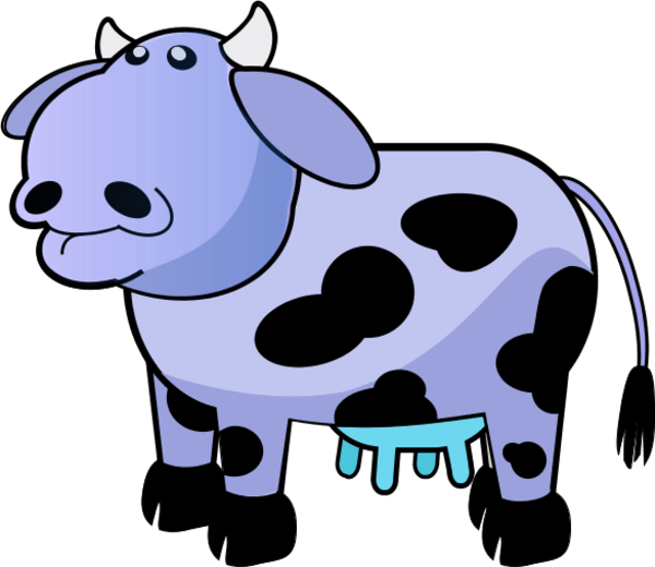 Ox clipart cartoon.  collection of blue