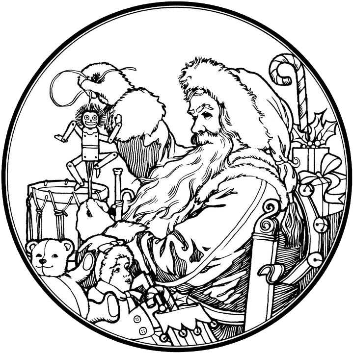 Ox clipart colouring page. Santa claus coloring pages