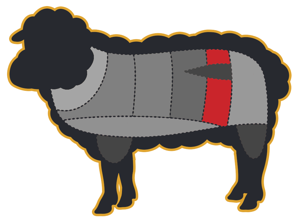 Ox clipart fat sheep. Backstrap makani australias finest