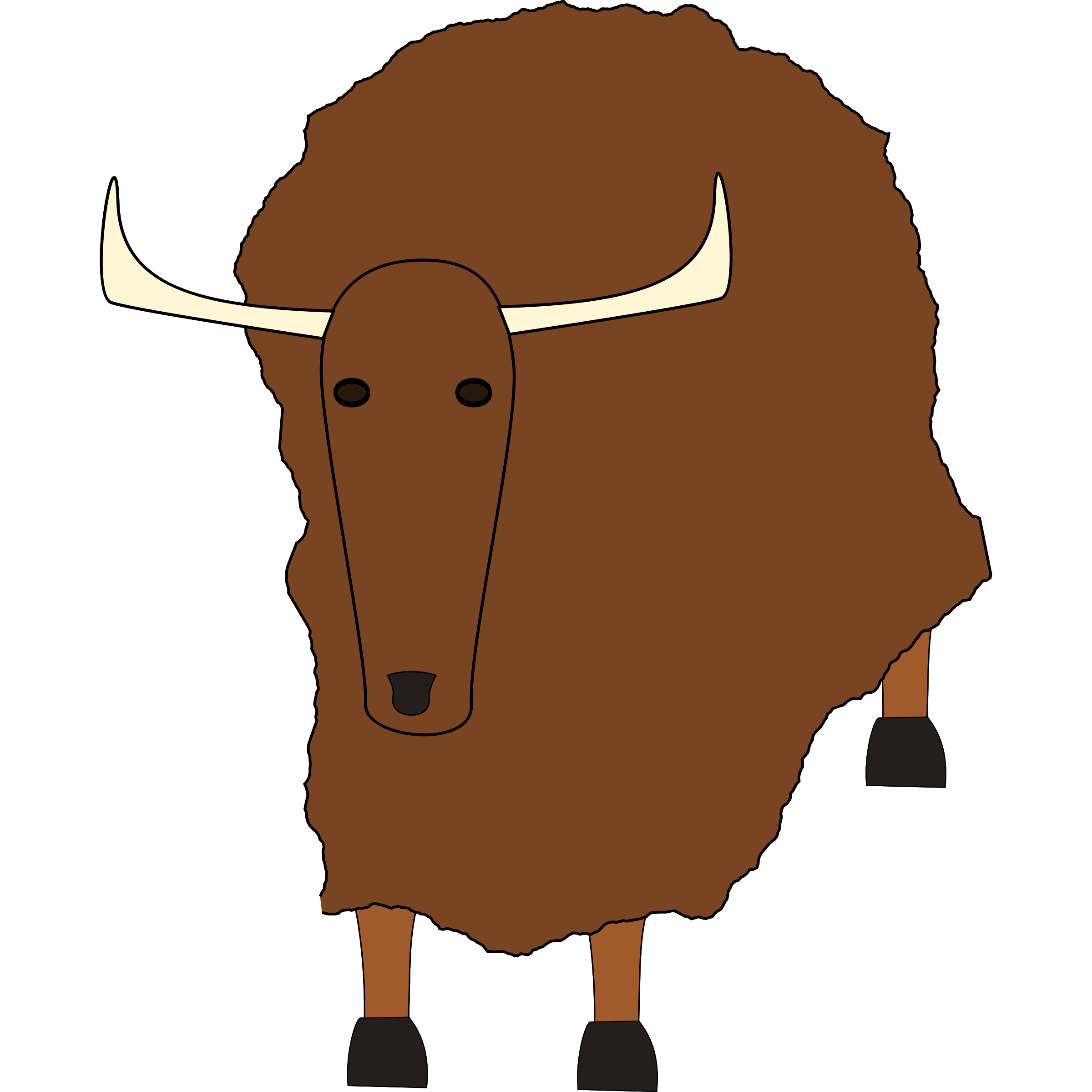 Yak clipart trainer. Ox musk free on