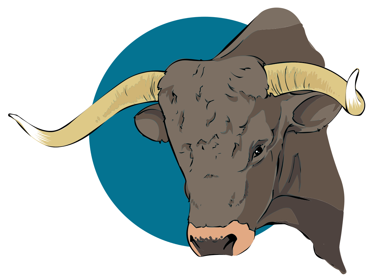 Ox clipart longhorn. Texas brahman cattle goat