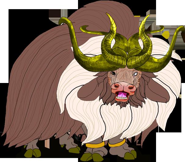 Yak clipart musk ox. Monster thing by kirinworks