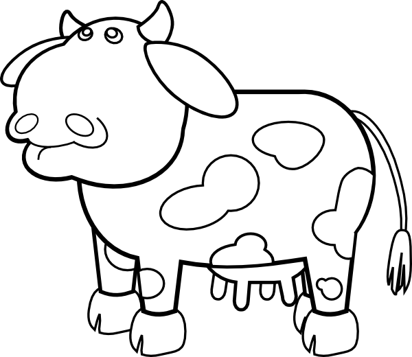 Spotted cow clip art. Ox clipart outline