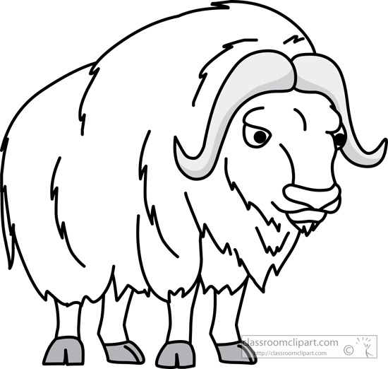 Musk station . Ox clipart outline