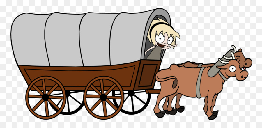 Clip art pony covered. Ox clipart ox wagon