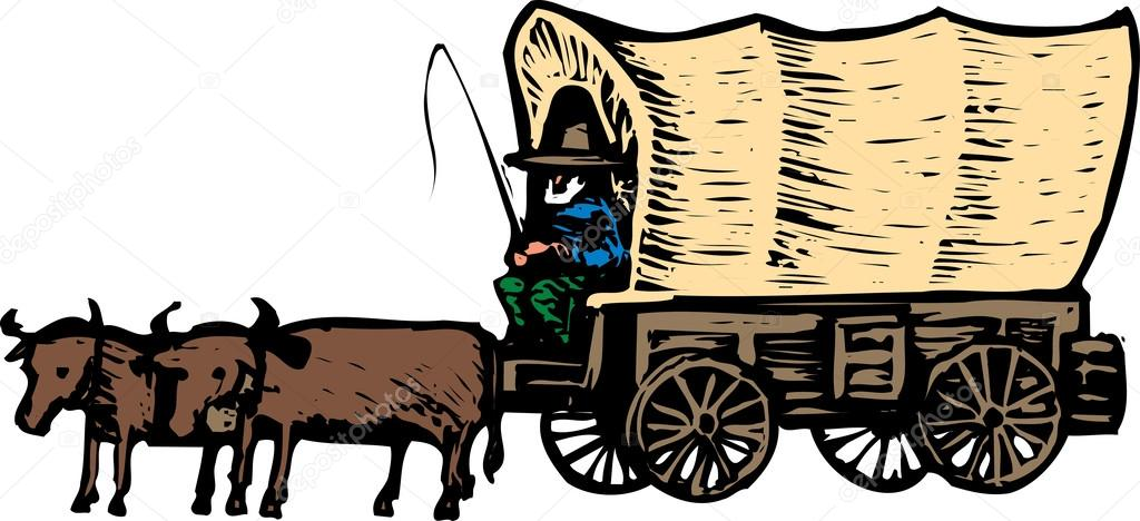 Ox clipart ox wagon. Covered cliparts free download