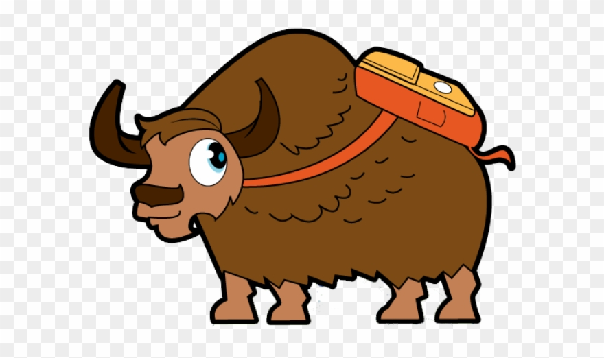 Ox clipart yak. Animated png transparent