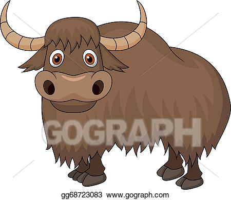 Eps illustration cartoon vector. Ox clipart yak
