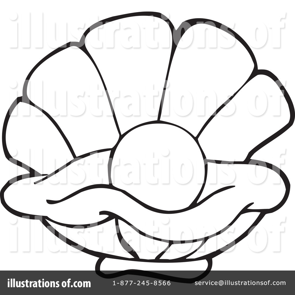 Illustration by visekart royaltyfree. Oyster clipart