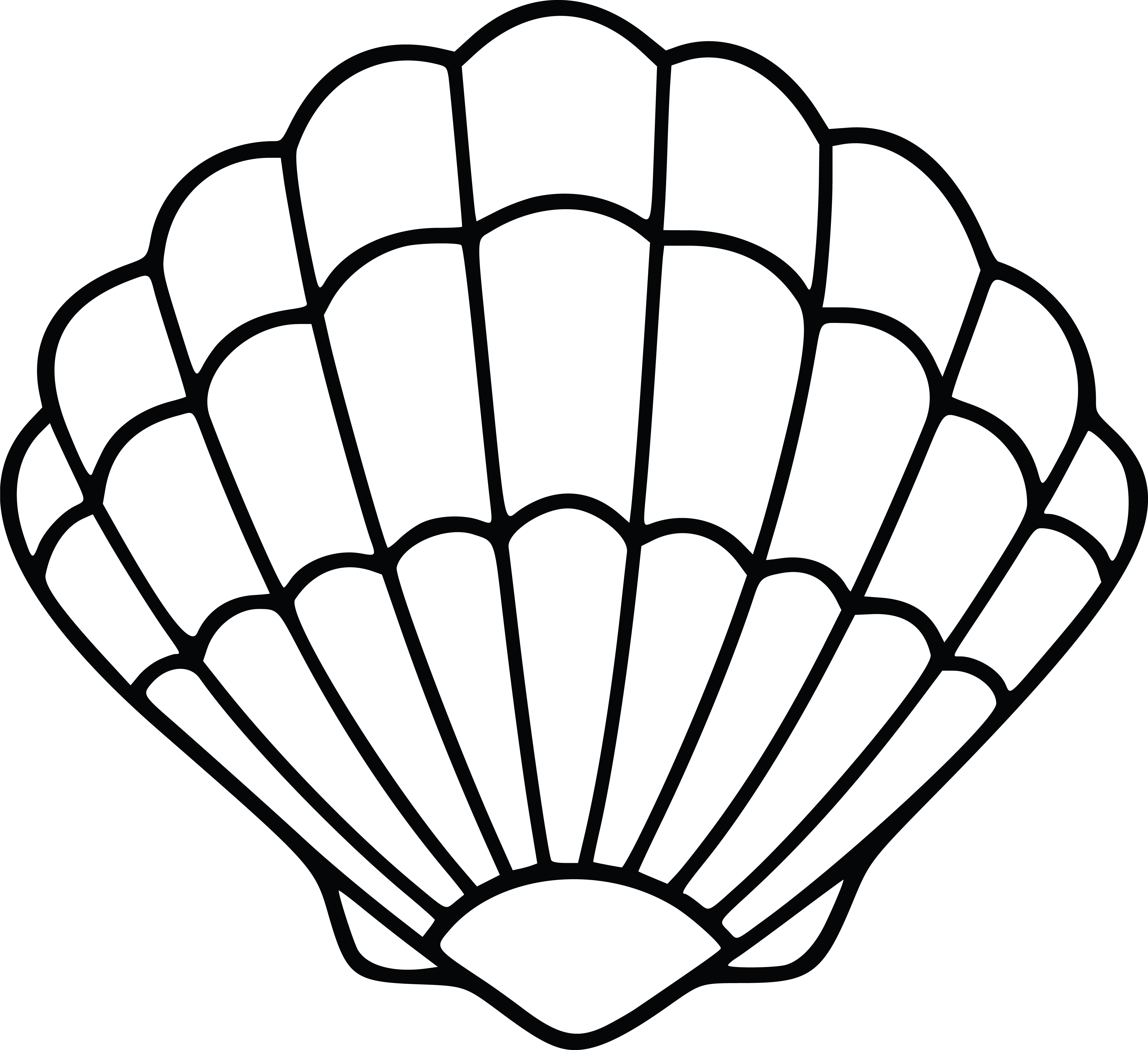 Shell clipart simple. Oyster drawing free download