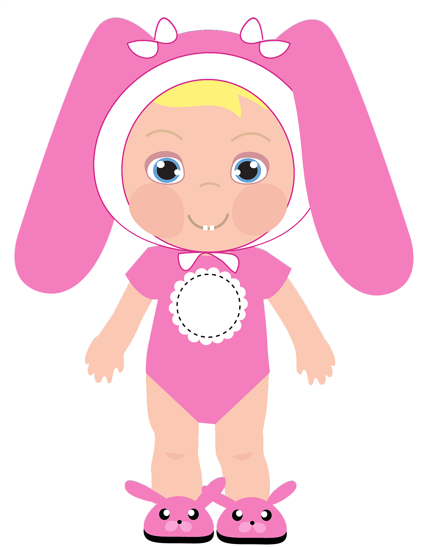 Baby girl free shower. Showering clipart vector