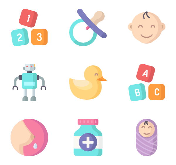 Pacifier icons free baby. Vector images png