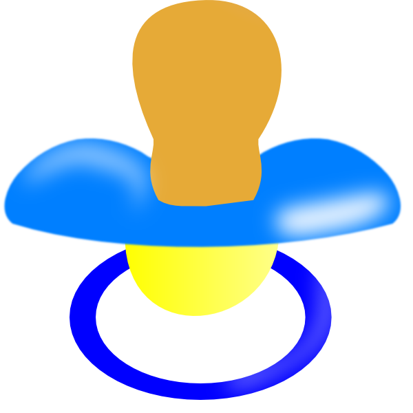 Report clipart clip art. Blue pacifier at clker