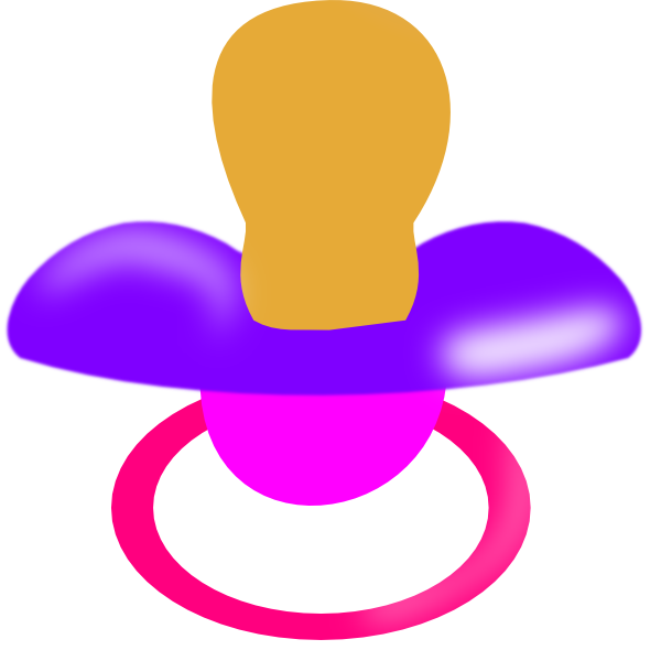 Pacifier clipart purple. And pink clip art