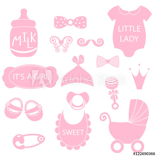 A vector illustration of. Pacifier clipart photo booth