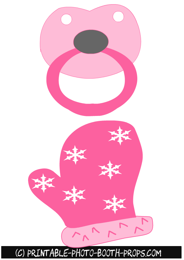 Pacifer clipart prop. Free printable pacifier and