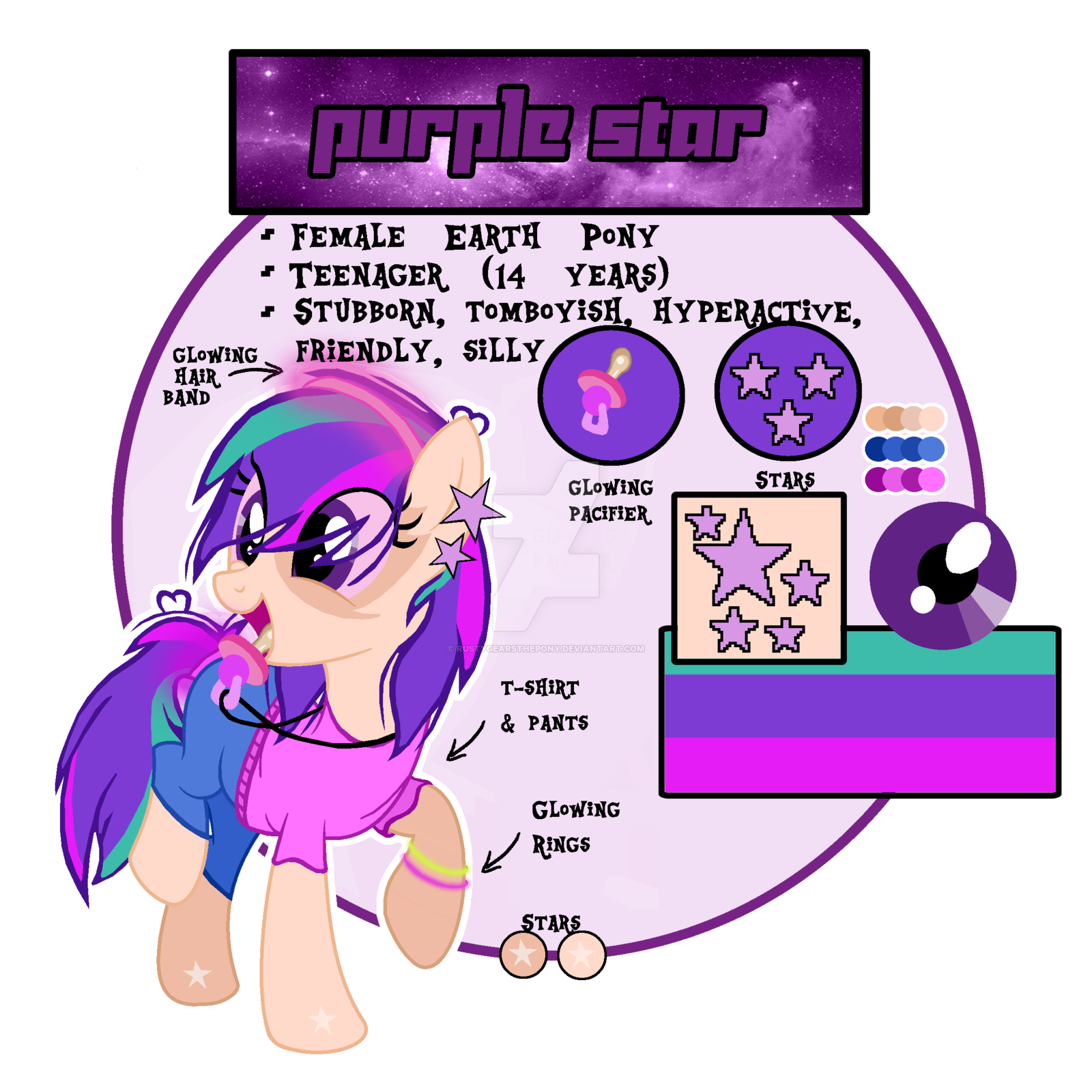 Pacifier clipart purple. Star by rustygearsthepony on