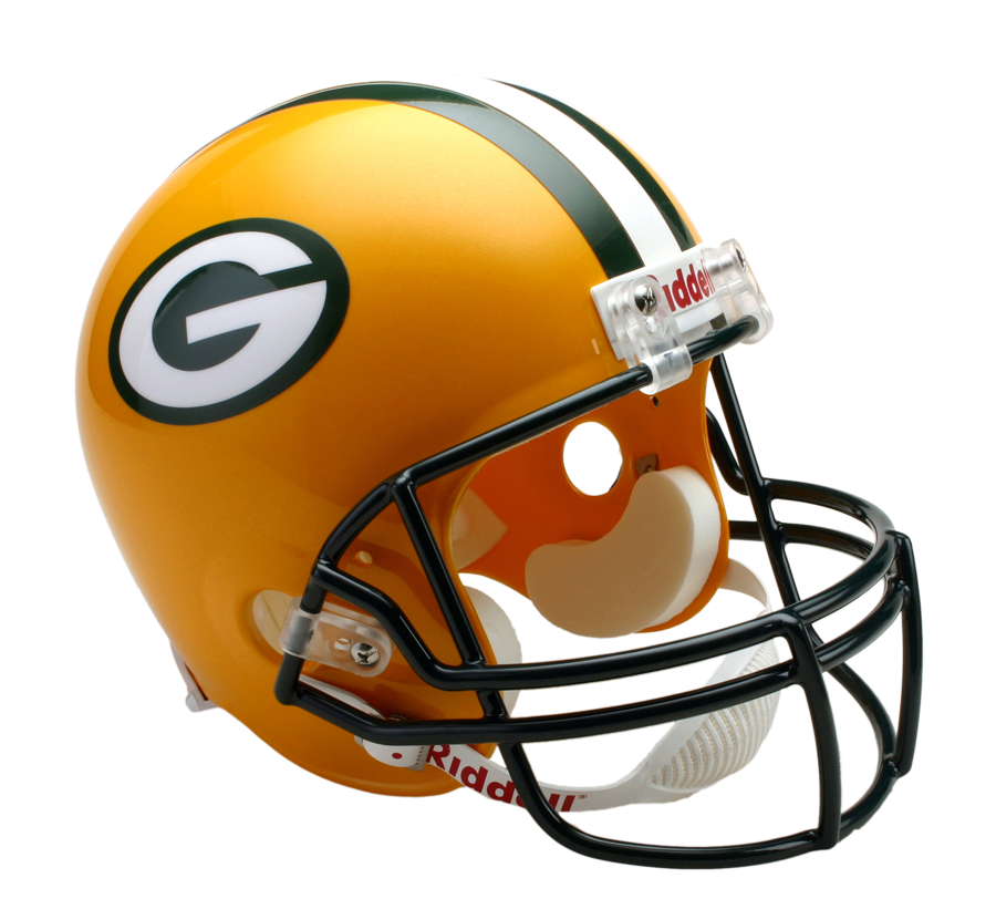 Fantasy football projections green. Packers helmet png