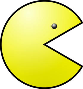 Pacman clipart. Yellow clip art at