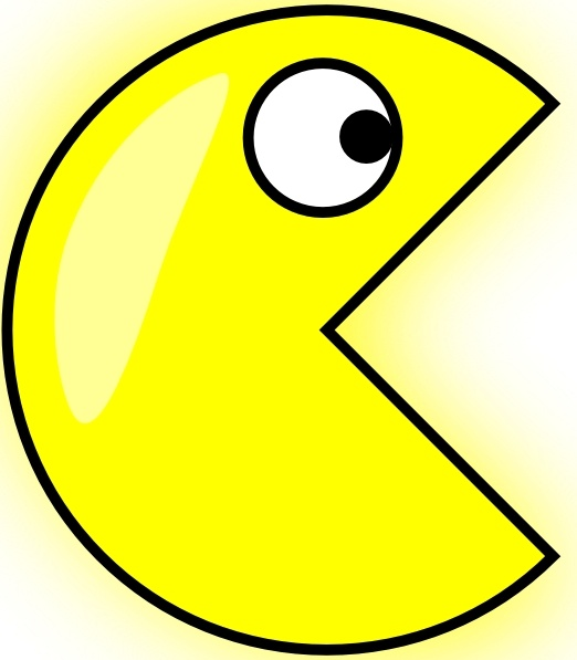 Clip art free vector. Pacman clipart