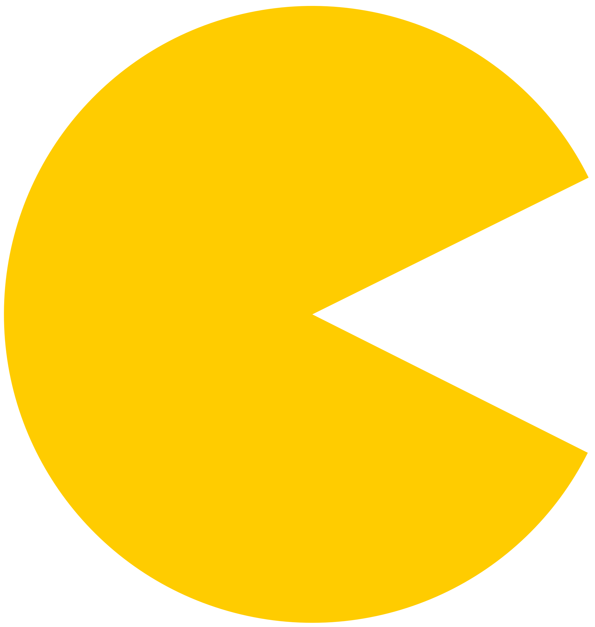 Pacman clipart. Pac man plain yellow